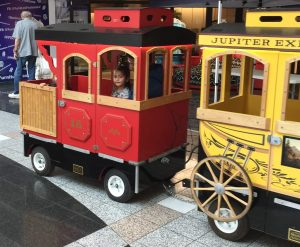 Train ride in the mall