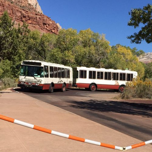 Zion National park tour bus