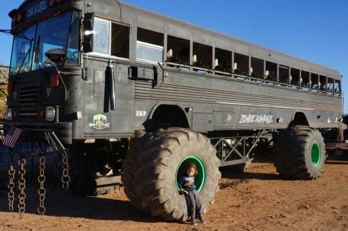 Zombie paint ball bus at the Staheli Family Farm