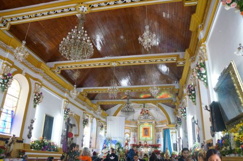 Inside during the festivity