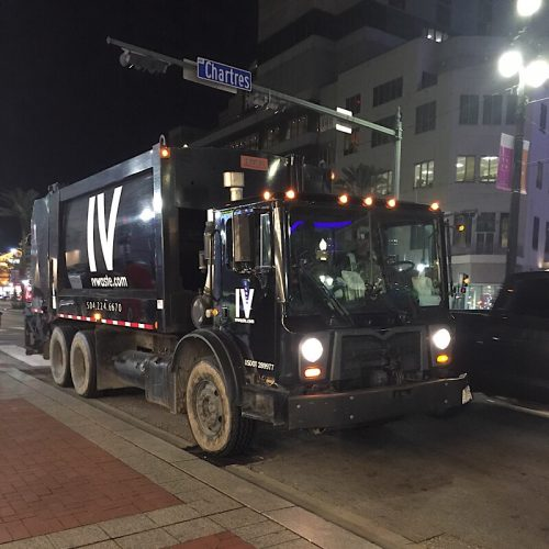 Rubbish truck in New Orleans