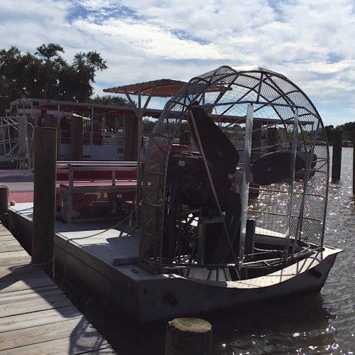 Very noisy Air boat on the bayou