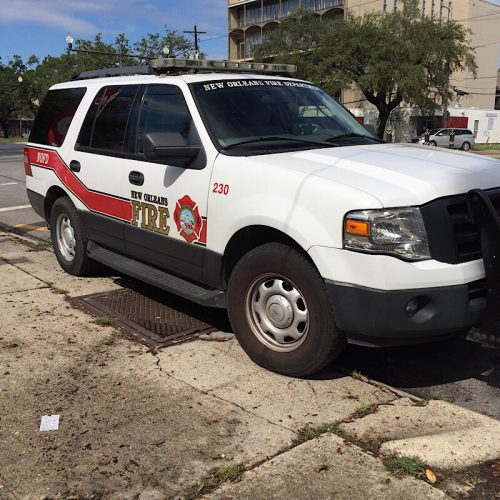 Fire vehicle in New Orleans