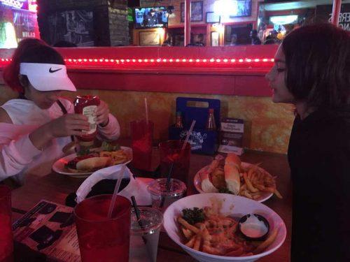 Po Boy, Cajun Fries and a burger :)