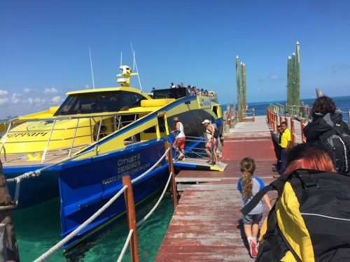 Ultramar Ferry gets you to Isla in about 20 minutes