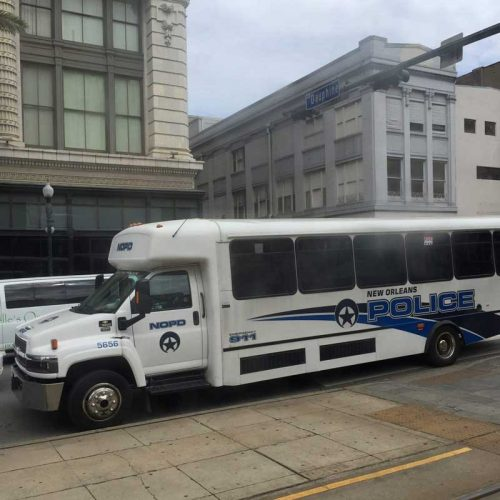 New Orleans Police Bus
