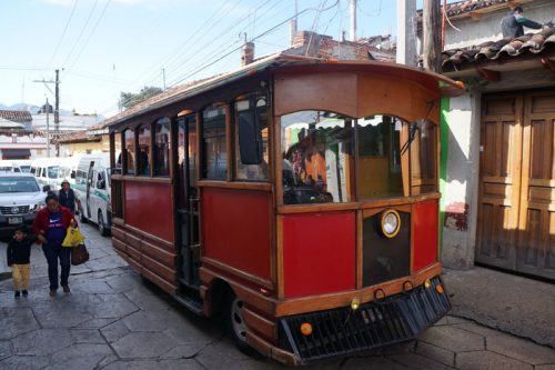 Tram taking tours through the streets