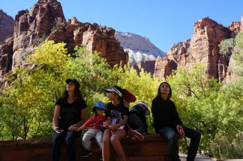 Zion National Park - waiting for the tour bus