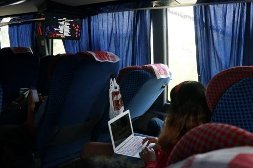 Bus ride back was comfortable and scenic