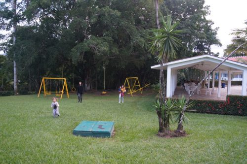 The playground at Palenque hotel