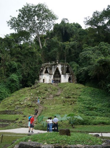 One of the temples covered in jungle