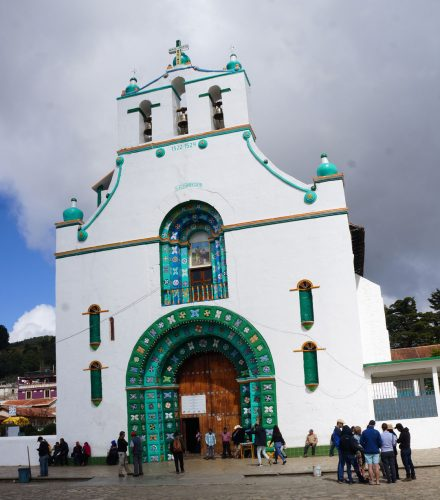 Chamula front of the church