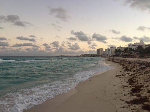 Beach at the hotel zone Cancun