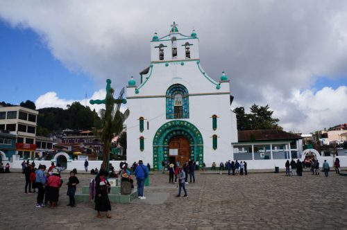 Chamula outside of the church