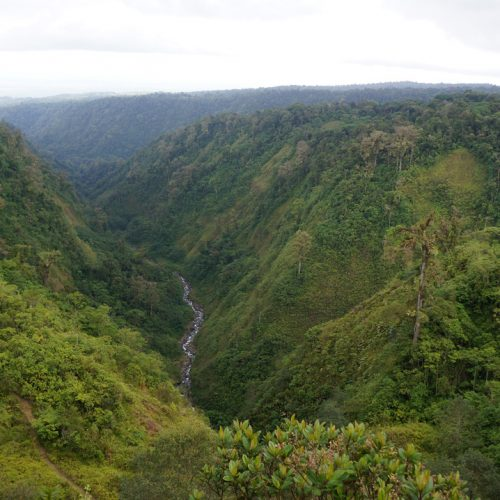 Gorge just past La Paz Waterfall Gardens