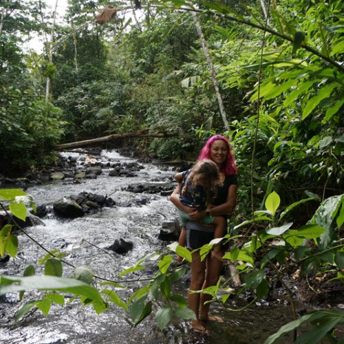 Natural hot water spring