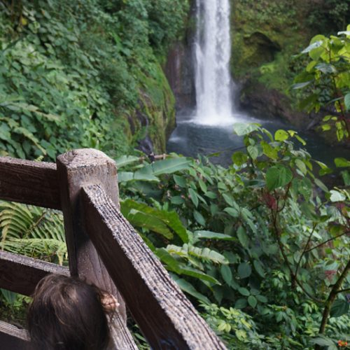 Lui at the waterfall