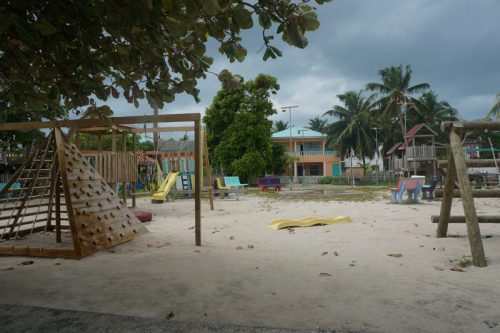 The playground at Caye Caulker