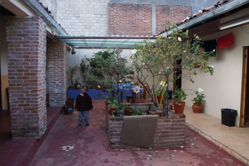Courtyard of a Yik Cafe
