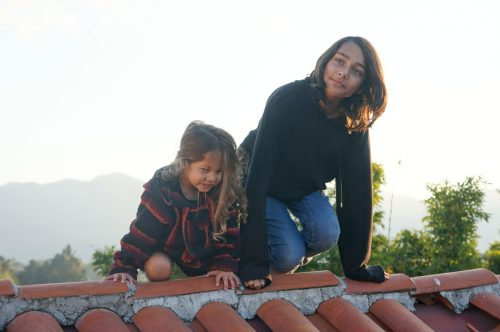 Climbing the rooftops in San Cristobal