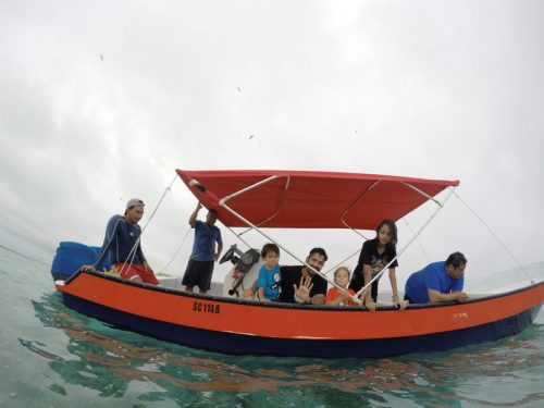 Our boat we went snorkelling on