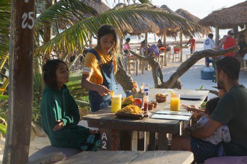 Restaurant at the beach at Tulum