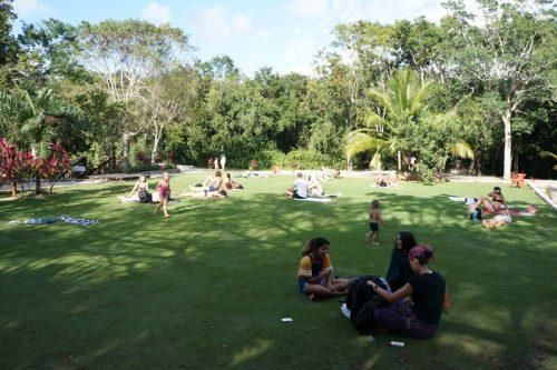 Rest area at Gran Cenote