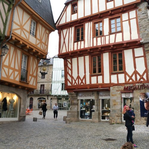 Vannes has some pretty medieval houses with the traditional wood frames exposed on the outside