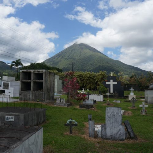 Pretty cemetery by Volcan Arenal