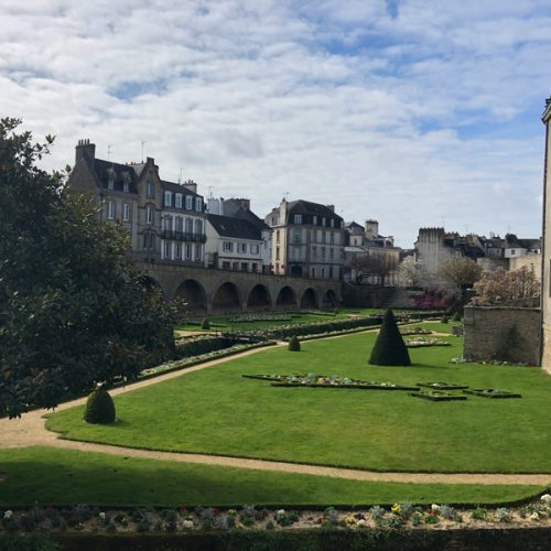Beautiful gardens in one of the oldest areas of Vannes