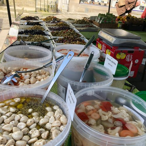 Lots of interesting foods to try in the market