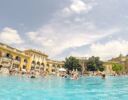 Széchenyi Bath House in Budapest with kids
