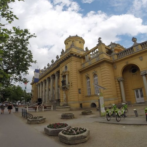 The front of Széchenyi Bath House in Budapest 2019