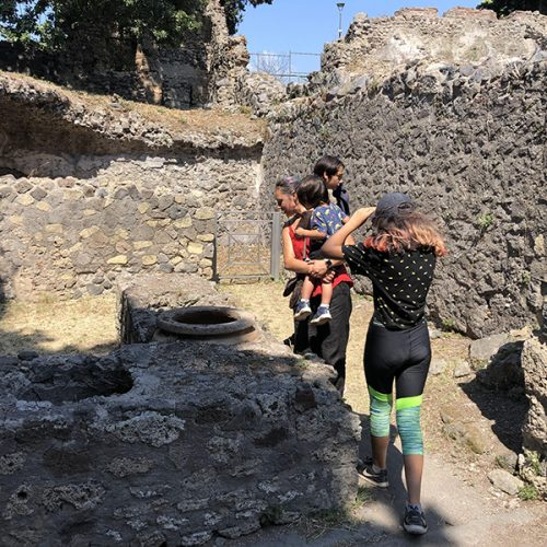 The poor areas make up the majority of Pompeii